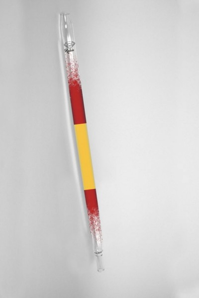 Rubin Glasmundstück - Nationalflagge - Spanien
